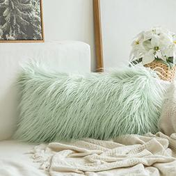 MIULEE Decorative New Luxury Series Style Green Faux Fur Thr