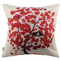 Decorative Pillow Case Life Tree Red Pillow Cover girlfriend