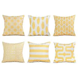 Top Finel Decorative Pillow Covers Set Soft Microfiber Outdo