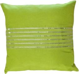 Decorative Silver Sequins Stripes & Zig Zag Embroider Throw