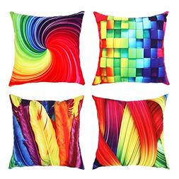 Top Finel Decorative Square Throws Pillows Soft Colorful Lux