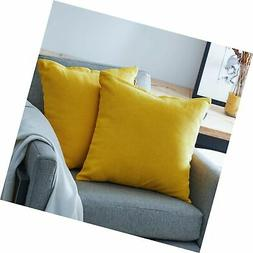 Top Finel Decorative Throw Pillow Cases Soft Chenille Solid