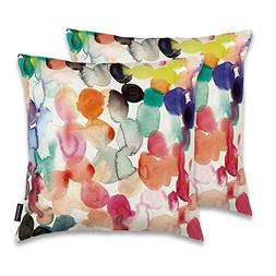 JUNHOMEDEC Decorative Throw Pillow Cover Cushion Sham Colorf