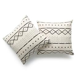 Hofdeco Decorative Throw Pillow Cover HEAVY WEIGHT Cotton Li