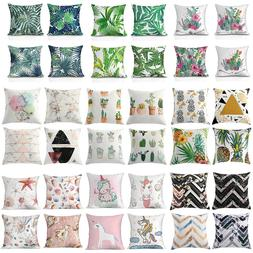 Decorative Throw Pillow Cover Set of 4 Square Cushion Covers