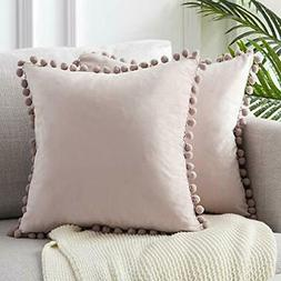 Top Finel Decorative Throw Pillow Covers 18 x 18 Inch Soft P