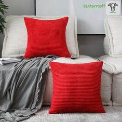 "HOME BRILLIANT Decorative Throw Pillow Covers 2 Packs, 18"" x"