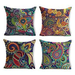Chogori Decorative Throw Pillow Covers Set of 4 Cotton Linen