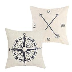 Pack of 2 Decorative Throw Pillow Covers 18 x 18 Cushion Cov