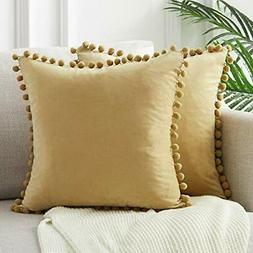 Top Finel Decorative Throw Pillow Covers for Couch Bed Soft