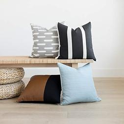 Decorative Throw Pillow Covers ONLY for Couch Sofa Bed Set o
