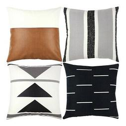 Decorative Throw Pillow Covers Only For Couch,Sofa,Or Bed Se