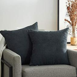 Top Finel Decorative Throw Pillow Covers Soft Chenille Solid