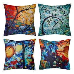 Top Finel Decorative Throw Pillow Covers Square Soild Cushio
