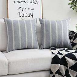 HOME BRILLIANT Decorative Throw Pillow Covers Striped Modern
