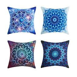 Top Finel Square Decorative Throw Pillow Covers Canvas Outdo