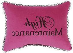 "Leyla's Pillows Decorative Pillow Throw, 10"" x 13"", Hot Pink"
