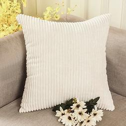 Decorative Toss Pillow Case Striped Corduroy Cushion Cover 1