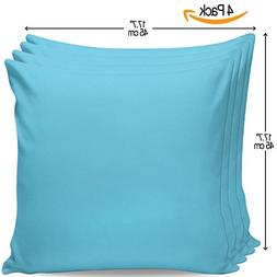 "Serra Home 4-Pack Decorative Turquoise, 18"" x 18"" Throw Pill"