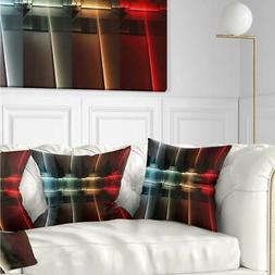 Designart 'Kitchen with LED Lighting' Abstract Throw Pillow