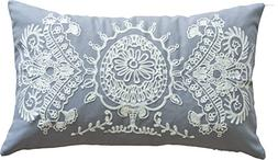 Designer's Special Pattern Embroidery Decorative Throw Pillo