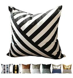 Kdays Diagonal Striped Pillow Cover Designer Modern Throw Pi