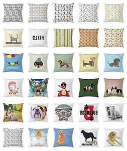 Dog Throw Pillow Cases Cushion Covers by Ambesonne Home Acce
