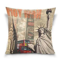 ALAZA Double Sided American City Landmarks New York and Stat