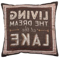 Primitives by Kathy Rustic Double-Sided Throw Pillow, 16-Inc