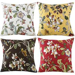 TongXi Double-Sided Printing Flower and Bird Pattern Soft Th