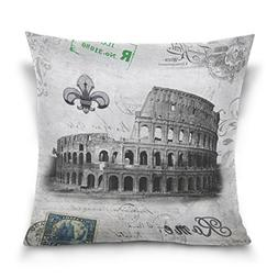 ALAZA Double Sided Roman Colosseum City Landmarks Italy Cott