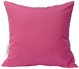TangDepot Durable Faux Silk Solid Pillow Shams, Square Decor
