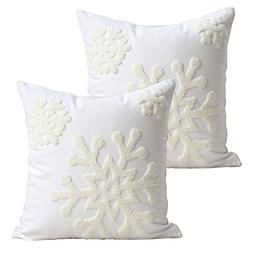 "E.life 18x18"" Soft Canvas Christmas Winter Snowflake Style C"
