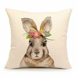 4TH Emotion Easter Rabbit Throw Pillow Case Cushion Cover Sp