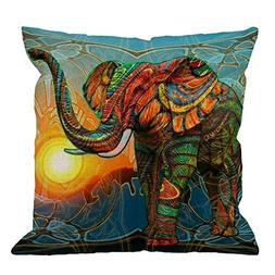 Elephant Pillow Case by HGOD DESIGNS Colorful Aztec Elephant