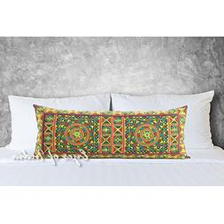 Eyes of India 14 X 32 Yellow Embroidered Colorful Decorative