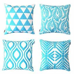 ALPHA HOME Embroidered Throw Pillow Covers Decorative Cushio