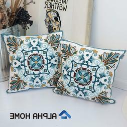 Embroidered Throw Pillow Covers Decorative Cushion Covers 18
