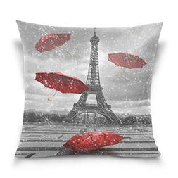Ethel Ernest Home Decor Zippered Pillowcase Paris Eiffel Tow