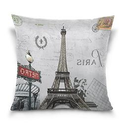 ALAZA European City Landmark Cotton Pillowcase 16 X 16 Inche