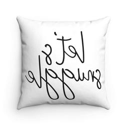 FabricMCC Throw Pillow Cover 18 Inch Quote Words Square Deco