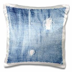 3dRose Faded Denim - Blue Jeans - Fashion - Art, Pillow Case