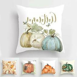 Fall Halloween Pumpkin Pillow Case Waist Throw Cushion Cover