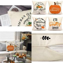 4Th Emotion Fall Pumpkin Thanksgiving Throw Pillow Covers Fa