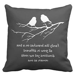 Zazzle Family Like Branches On a Tree Saying with Birds Thro