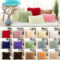 Faux Fur Throw Pillow Cover Fluff Cushion Cover Soft Pillow