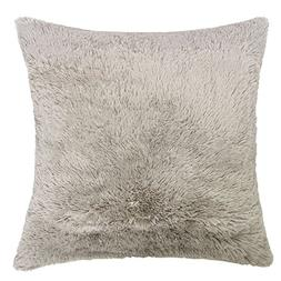 Homey Cozy Faux Fur Throw Pillow Cover,Latte Brown Double-Si