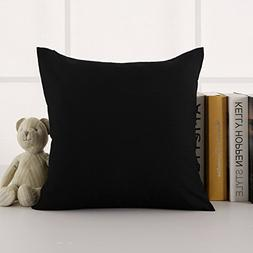 Deconovo Faux Linen Cushion Cover with Invisible Zipper Thro