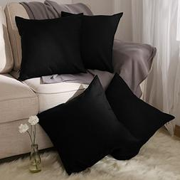 Deconovo Faux Linen Cushion Covers with Invisible Zipper Pil