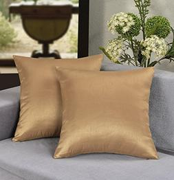 Aiking Home 18x18 Inches Faux Silk Square Throw Pillow Cover